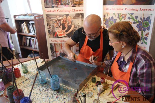 ebru marbling class workshop masterclass lesson sultanahmet istanbul