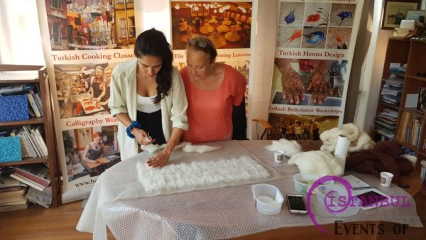 Traditional Turkish Felt Kece Making Workshops in Istanbul