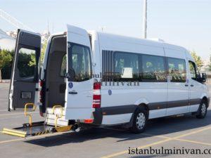 wheelchair access disabled minivan car rent istanbul turkey
