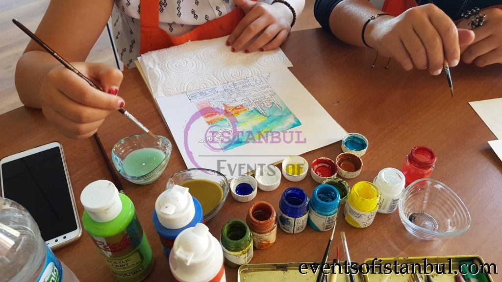 turkish ottoman painting art class lesson workshop istanbul