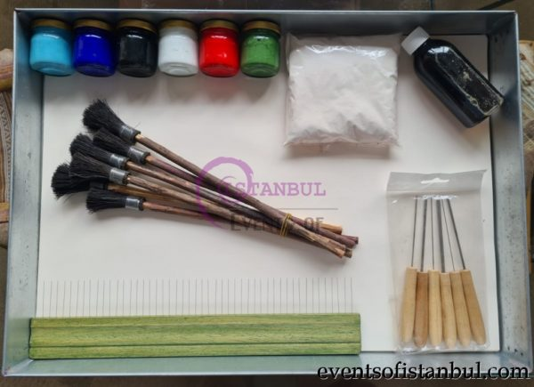 marbling ebru art set supply istanbul